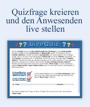 Quizfrage kreieren und den Anwesenden live stellen